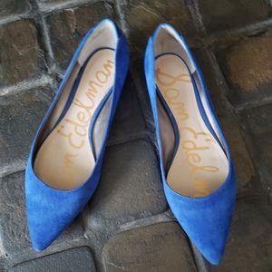 Sam Edelman faux suede blue flats